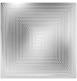 concentric square background silhouette vector image
