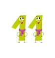 Cute and funny colorful 11 number characters vector image vector image