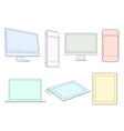 Digital devices in pastel colors vector image vector image