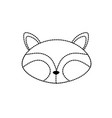 dotted shape raccoon head wild cute animal vector image