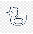 ducky concept linear icon isolated on transparent vector image