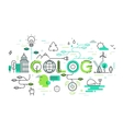 Ecology and environment concept thin vector image