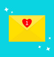 email icon yellow paper envelope letter template vector image vector image
