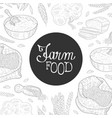 farm food banner template organic agricultural vector image vector image