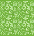 farm signs seamless pattern background on a green vector image vector image