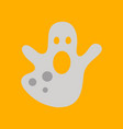 flat icon on background halloween ghost vector image