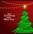 flat paper style merry christmas and happy new vector image vector image