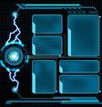Futuristic user menu interface HUD vector image vector image