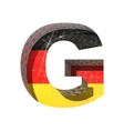 Germany cutted figure g vector image