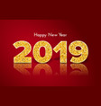 golden happy new year 2019 holiday gift card vector image
