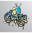 Graffiti word character print vector image