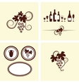 Grape vines elements set vector image