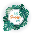 green summer tropical background vector image vector image