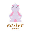 greeting card with cute bunny easter vector image vector image