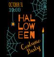 halloween banner template vector image vector image
