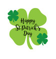happy saint patricks day calligraphy with glitter vector image vector image