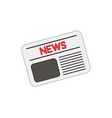 icon concept of newspaper colored and color vector image