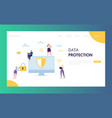 internet data safety network landing page vector image