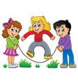 kids play theme image 1 vector image vector image