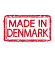 made in denmark stamp text vector image vector image