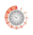 man running around clock vector image vector image