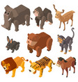 many wild animals in 3d design