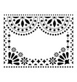 mexican design greeting card invitation vector image vector image