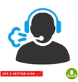 Operator Speech Eps Icon vector image vector image