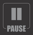 pause symbol vector image