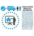 Realtor Presentation Icon with 1000 Medical vector image vector image