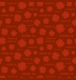 red corona virus infection seamless pattern vector image vector image