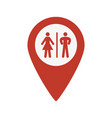 restroom map pointer icon vector image vector image