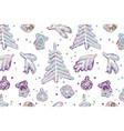 seamless cute cartoon stars pattern vector image