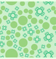 seamless pattern of dots and stylized flowers vector image