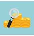 search money with magnifying isolated icon design vector image