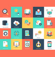 seo and marketing flat icons set vector image vector image