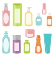 Set 2 of cosmetics containers vector image vector image