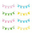 Set of hand drawn party flags vector image