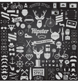 set vintage hipster icons vector image vector image