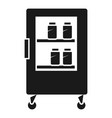 shopping refrigerator on wheels icon simple style vector image
