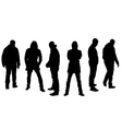 Silhouette of people vector image vector image