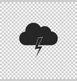storm icon cloud and lightning sign vector image vector image