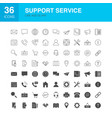 support service line web glyph icons vector image