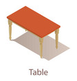 table icon isometric style vector image vector image