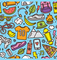 teenager hipster objects seamless pattern vector image vector image