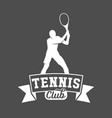 tennis sports logo label emblem design elements vector image vector image