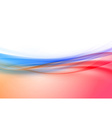 Transparent swoosh wave border in red and blue vector image vector image