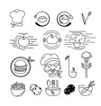 vegetarian food logo elements vector image