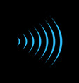 wifi sound signal connection sound radio wave vector image vector image