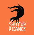 with dancing breakdance dinosaur shut up vector image
